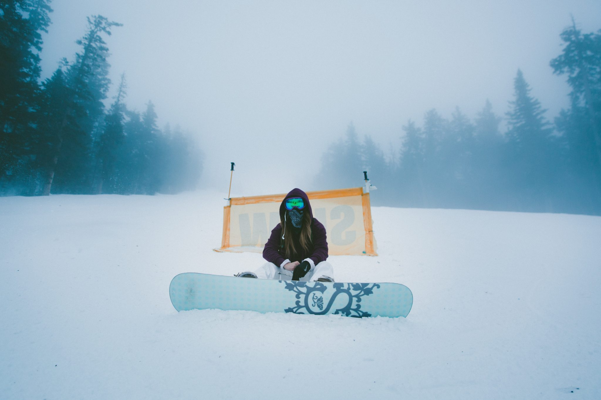 extreme winter sports girl