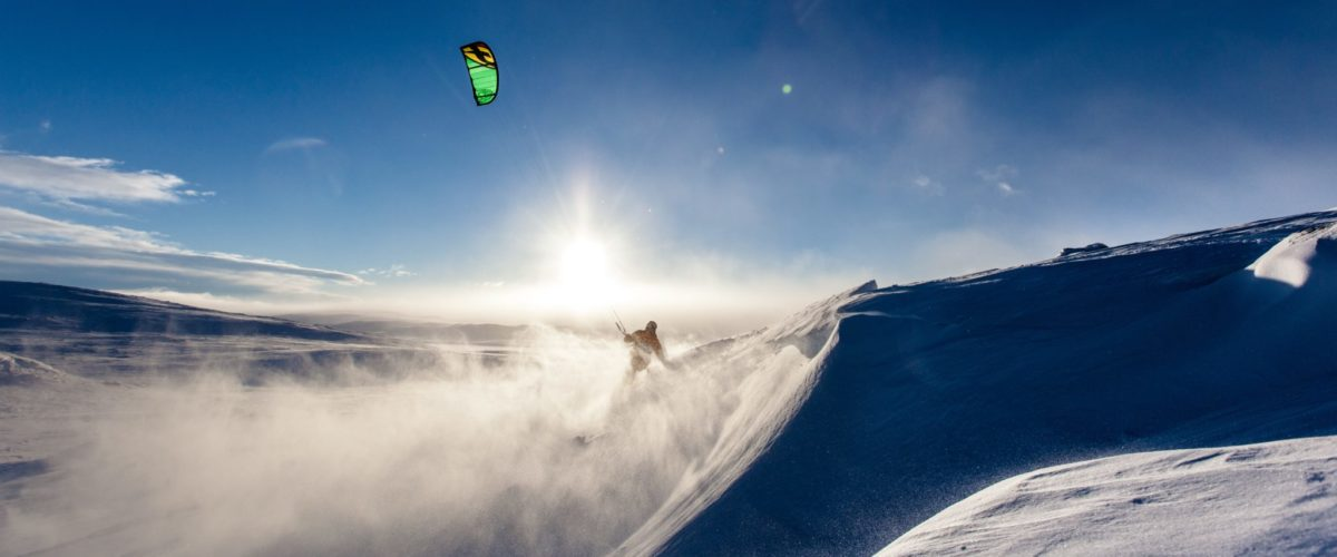 Snow kiting