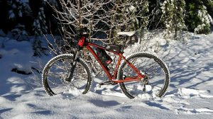 Snow mountain biking