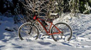 Snow mountain biking