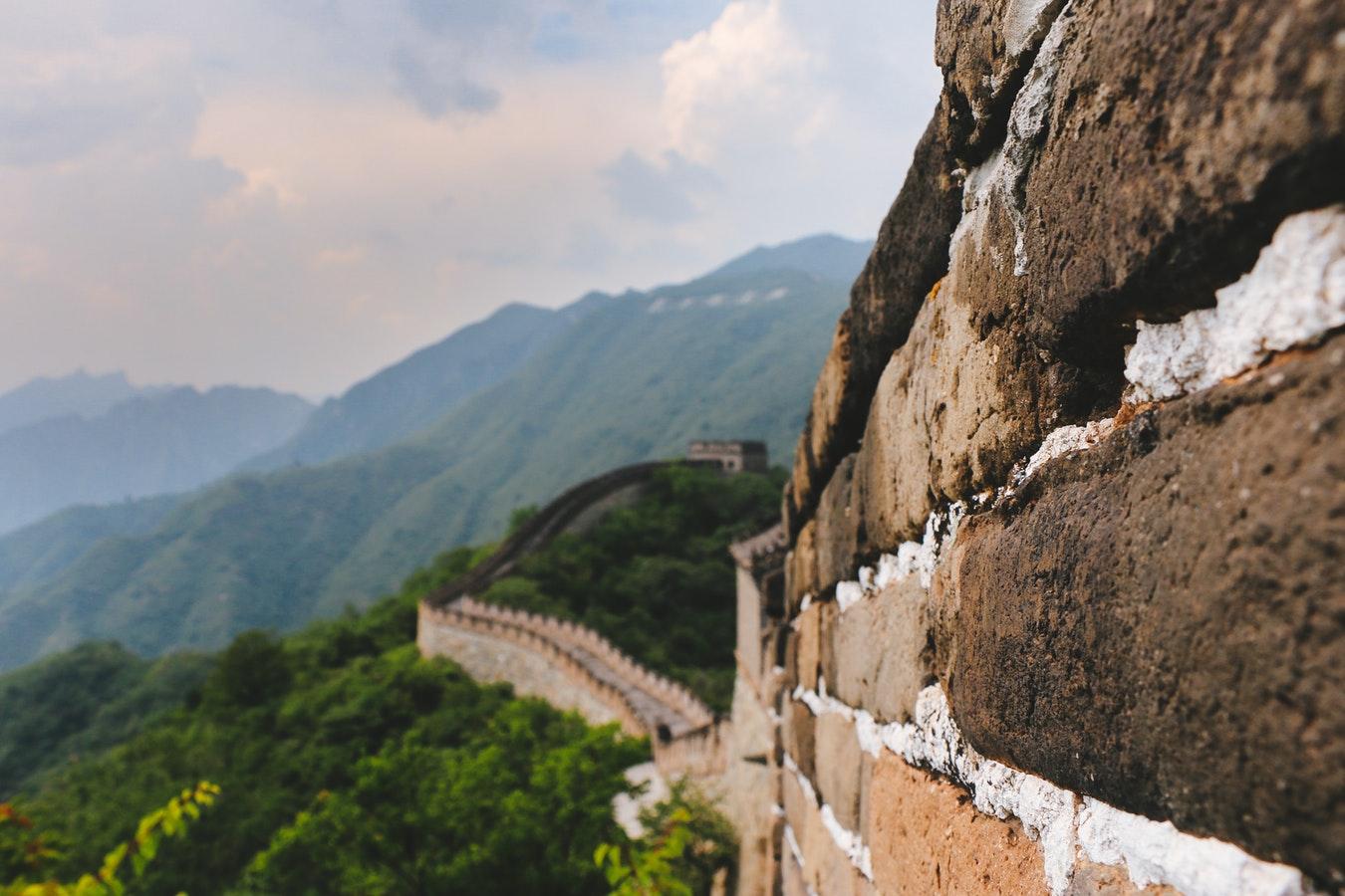 China wall side