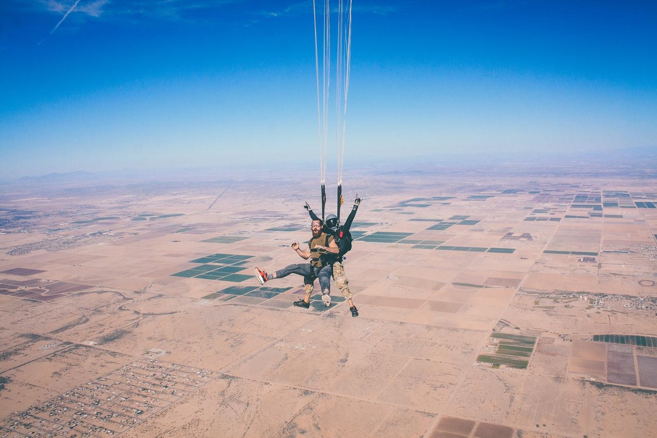 skydiving fun