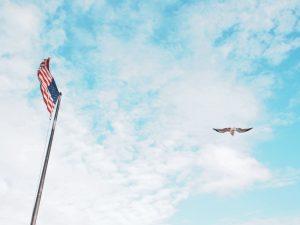 usa flag sky