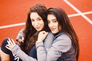 women athletes run