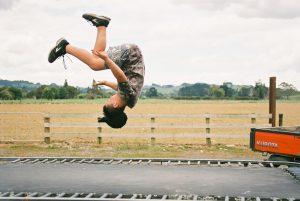 trampoline flip kid