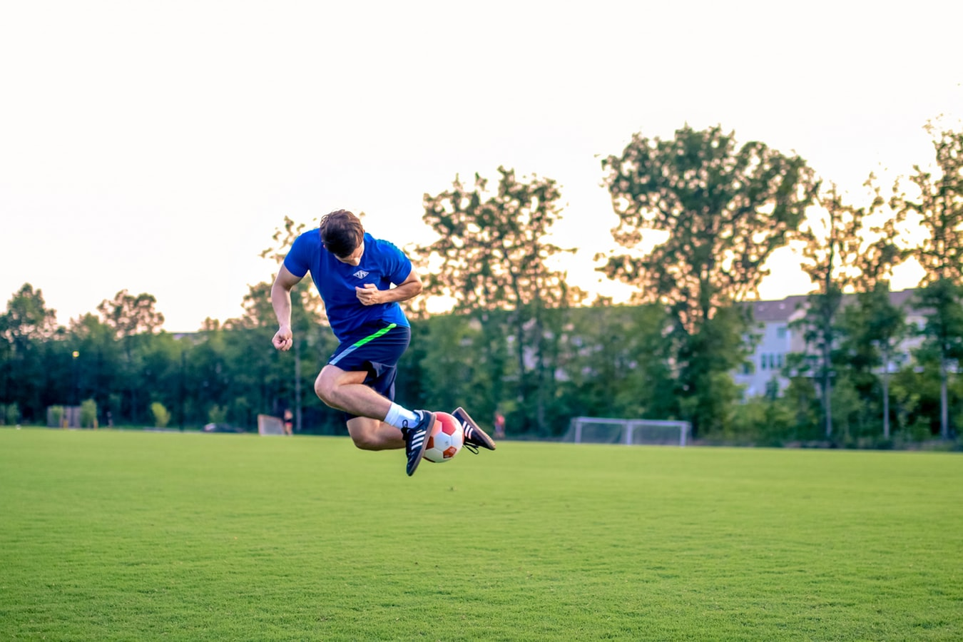 football player jumping
