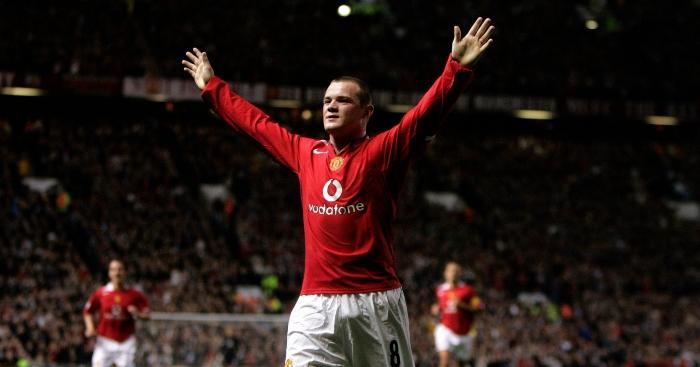 Wayne Rooney open arms