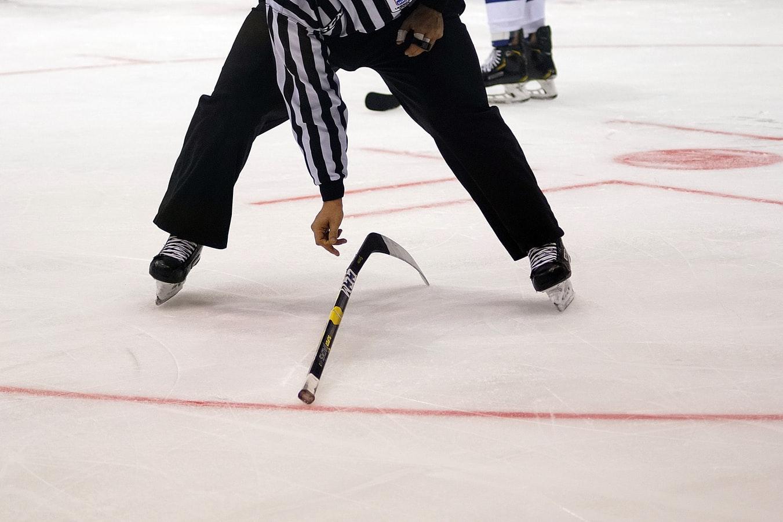 hockey judge and stick