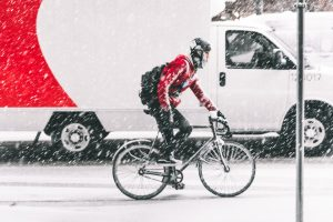 bycicle on snow