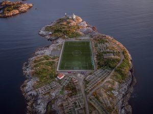football field in sea
