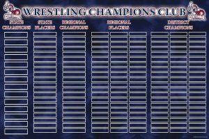 Record board for wrestling