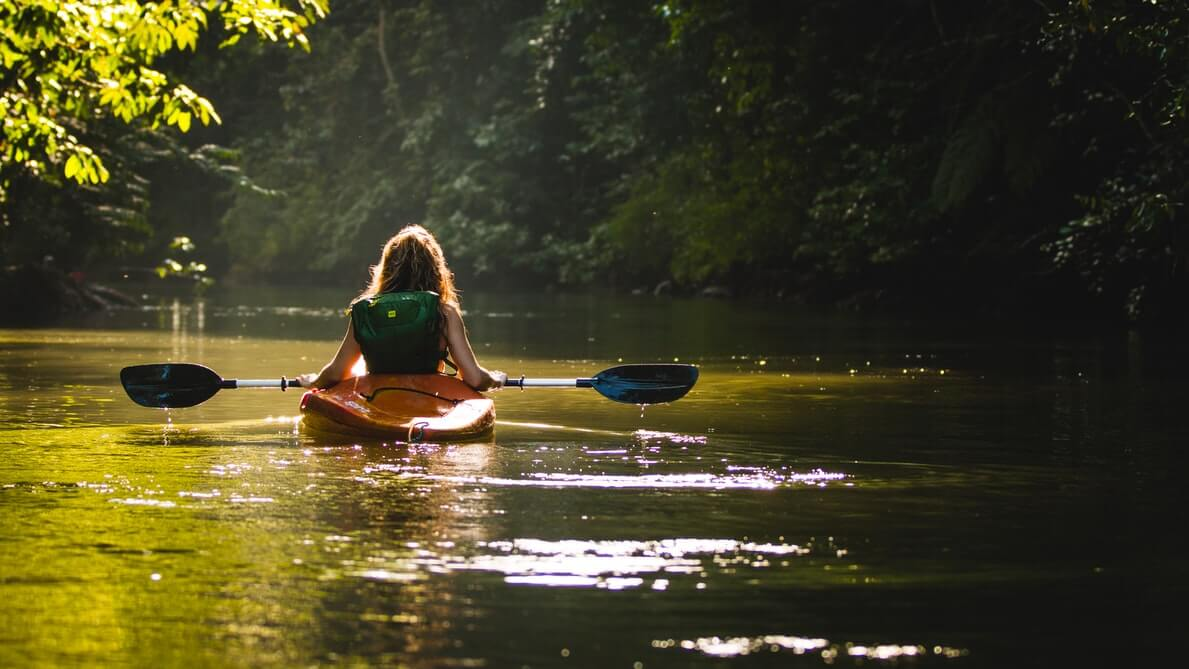 woman amazon kayaking